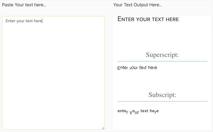 Superscript and Subscript